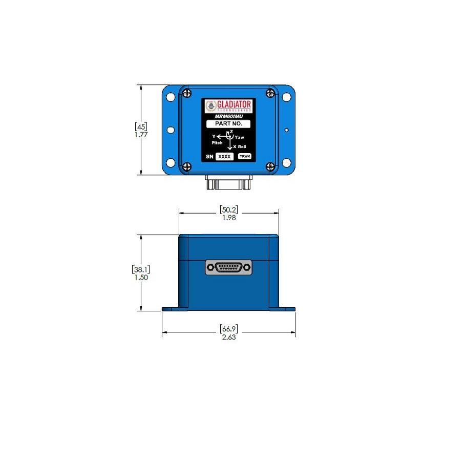 MRM60 Analog IMU (Inertial Measurement Unit) – Gladiator